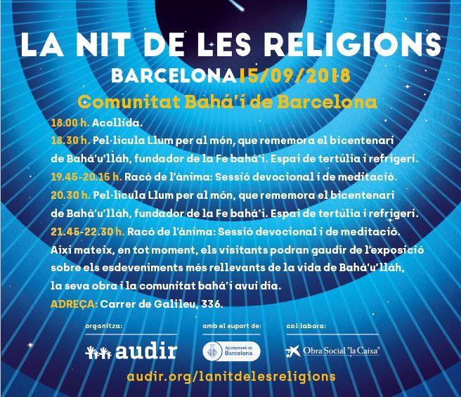 LA NIT DE LES RELIGIONS A BARCELONA
