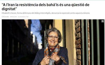 Entrevista en el diario Ara informa de las persecuciones a los bahá'ís en Irán