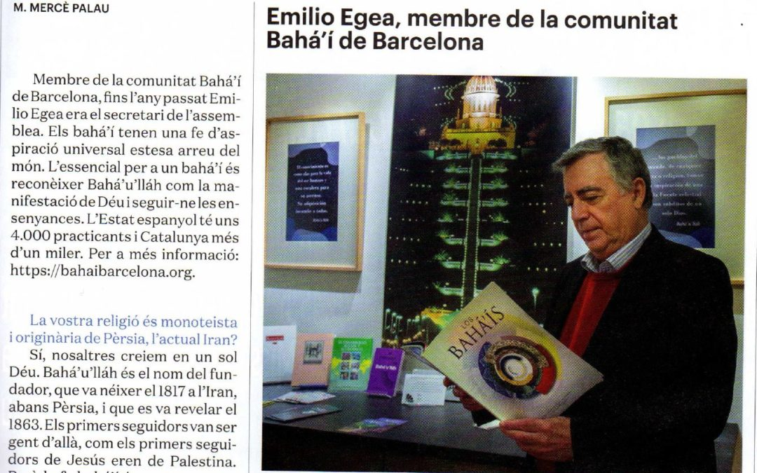 Catalunya Cristiana publica una entrevista sobre la Fe bahá'í