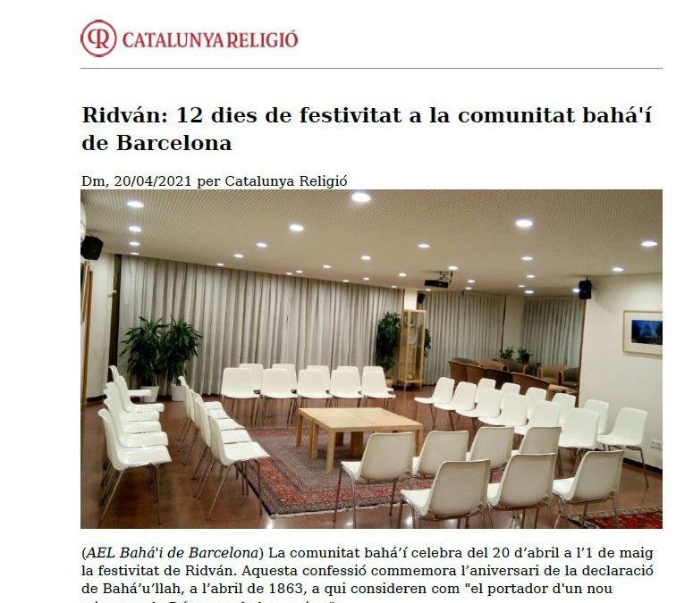 Catalunya Religió da cuenta de la celebración del Ridván
