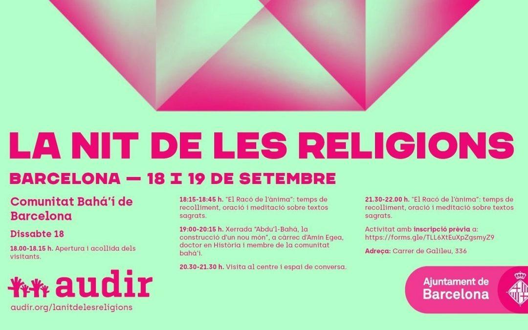 Por sexto año consecutivo la comunidad bahá'í de Barcelona participó en la Nit de les religions